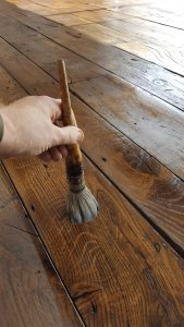 wood finishing old reclaimed oak floor
