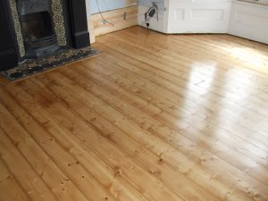 refinished period pine floor in Archway