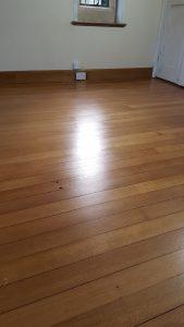 Edwardian English quarter grain oak floor shellac and waxed