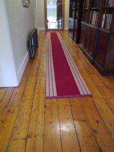 Hand sanded Georgian pine floor hallway