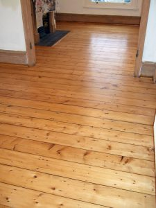 Stunning Victorian reclaimed pine floor boards from Lancastrian textile mill