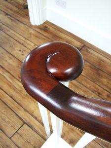 Georgian mahogany handrail French polished Pembridge Villas