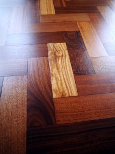 Wonderful reclaimed mahogany parquet floor